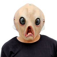 Wholesale Scary Mask Deluxe - Wholesale- Scary Silicone Face Mask Alien Head Creepy Party Deluxe Novelty Halloween Costume Party Latex Horror Masks