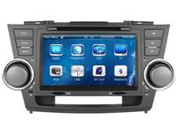Wholesale Toyota Highlander Navigation Dvd - Car DVD Player for Toyota Highlander 2008 2009 2010 2011 2012 2013 with GPS Navigation Radio BT USB SD AUX Audio Stereo