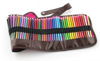 Wholesale Charcoal Material - Wholesale- 48pcs Fabric material rolling pencil bag holder organizer portable drawing set pencils charcoal extender painting set sketch