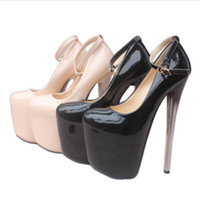 Wholesale Hot N Sexy Dresses - 2017 hot sale good quality high heels wedding shoes women pumps sexy nightclub party shoes heel height 19cm 22cm free shipping