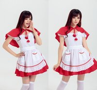 Wholesale Japanese Halloween Costumes Girls - Japanese Anime Cos Girls Apron Dress Halloween Costumes Housemaid outfits Cosplay Costume one size
