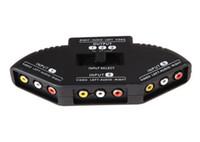 mini cabo usb divisor venda por atacado-Nova Seletor de Alta Qualidade 3 Portas de Vídeo Switcher AV Interruptor de Sinal AV Cabo RCA AV Splitter Conversor de Áudio para XBOX para PS TV