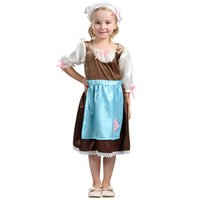 Wholesale Cosplay Maid Girl - Cinderella dress kids Cosplay clothing 2017 new girls maid Performance clothing children's day Dancewear girls costumes clothes A0771