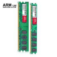 Wholesale Ddr2 1g - ARM Ltd 2GB 1GB 667Mhz 800Mhz DDR2 compatible all memory CL5-CL6 1.8V DIMM RAM 1G 667 2G 800 Lifetime Warranty