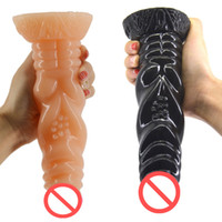 Wholesale New Anal Plug Designs - New Design Silicone Anal Plug Thread Grain Shape Dildo Huge Butt Plug Erotic Stuffed Anus Massager Sex Toy for Women H-2-46