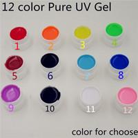 Wholesale High Quality Gel Builder - Wholesale-High Quality Nail Gel Polish Pure Colour Builder Solid gel Set For nail art 36w UV lamp