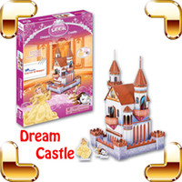 Wholesale Castle Toy For Girls - New DIY Gift LEER Dream Castle 3D Cartoon Puzzle Manga Model Puzzle For Girls Funny Assemble Game Cute Toy Family Interactive