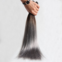 1B / Grey BrasilianaVirgin Hair Extension Trama di alta qualità dei capelli umani 10