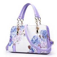 Wholesale Designer Handbag Painted - Wholesale-Pochette luxury Painting flowers Chain Women Bag famous designer purses and handbags ladies hand bags dollar price sac a main
