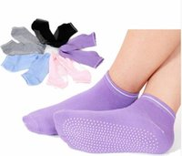 Frauen Pilates Yoga Non Slip Grip Socken Baumwoll Tanz Sport Massage Ankle Sock Gym Tanz Sport Übung Socken
