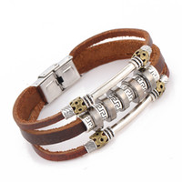 Wholesale leather bracelets for jewelry making - Wholesale-2016 New Hand Made Multilayer Leather Bracelet Fashion Retro For Women Anchor Bijoux Femme Plating Men Jewelry Hombre