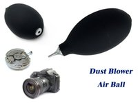 Wholesale Glass Blowers - Wholesale-2016 Rubber Stainless Steel Nipple Dust Blower Ball Cleaning Tool for Watch Glasses Camera Herramientas