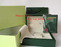Wholesale brand watches original box papers for sale - Group buy Green Brand Watch Original Box Papers Card Purse Gift Boxes Handbag mm mm mm KG For Watches