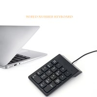 Wholesale Mini Numeric Keypad - Wired USB Numeric Keypad Slim Mini Number Pad Digital Keyboard 18 Keys for Mac Pro MacBook Air Pro Laptop PC Notebook Desktop