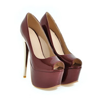 Wholesale Super High Heels 16 Cm - 2017 New Sexy Nightclub Heels 16 Cm Fish Mouth Sandals Spring and Summer Fine with Super High Waterproof Taiwan Women's Shoes Y-21