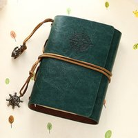 Wholesale Traveler Notebook Diary - Wholesale- Vintage Notebook Leather Cover Journal Diary Blank String Nautical Traveler book office school supplies ON029