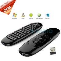 ingrosso usb remoto per android-C120 Giroscopio Fly Air Mouse Ricevitore USB 3 Assi Sensore Gioco Impugnatura per Android Smart Tv Box Telecomando wireless 2.4G