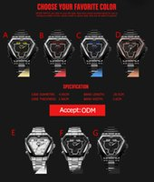 best shaped led - Irregular Stainless Steel Men's Watch Racing timer LED display JAPAN Movement Quartz watch WEIDE Dual dials mens watches fashion wrist Watch