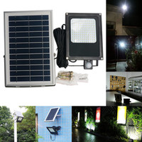 Wholesale ip55 floodlight resale online - 6000mah Leds SMD LED Solar Light V W Solar Panel Motion Sensor LED Floodlight For Indoor Outdoor Lumen