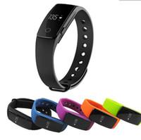 Wholesale id107 smart bracelet online - Fitbit Life WaterProof Smartwatch ID107 Smart Bracelet Bluetooth Heart Rate Monitor Fitness Tracker Sports Wrist for Android IOS