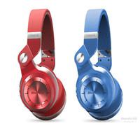 красные беспроводные наушники оптовых-Red Bluedio T2 беспроводная связь Bluetooth 4.1 стерео наушники высокое качество встроенный микрофон громкой связи для звонков и потоковой передачи музыки 4 цвета