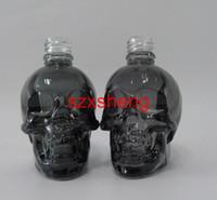 Wholesale Skull Bottles - 1 Pcs start 30ml Skull Eco Vape E-cig Dropper Bottle translucent Black Glass e Liquid e juice bottles Refillable essential oil Container