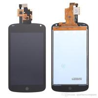 herramientas nexus lcd al por mayor-Para LG Nexus 4 E960 Nueva pantalla LCD de 4.5 pulgadas original Asamblea de digitalizador de pantalla táctil Con marco de color negro y herramientas gratuitas