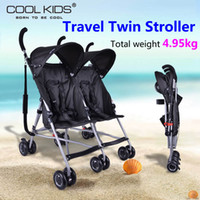 Wholesale Trolley For Kids - Super light 5kg Twins Strollers Cars For Two Babies Kids Trolley China Pushchair Inflatable,Convenience you treval,Portable,Easy folding