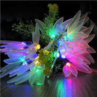 Wholesale Leaf Light String - 20 LED Four-leafed Flower Light String Solar Fairy String Lights for Outdoor Gardens Homes Wedding Christmas Party Waterproof