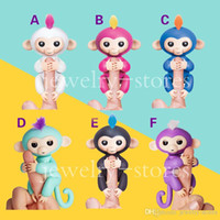 animaux de peluche singes achat en gros de-Fingerlings Playset Baby Monkey Stuffed Animal Fingerlings Interactive Baby Monkey Toys Electronique Baby Monkey Puppet Doll Christmas Gift
