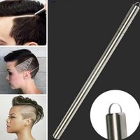 Wholesale Hairdressing Razors Wholesale - First Generation Salon Magic Engraved Pen Stainless Steel Razor pen for Hair Styling Eyebrows and Beards Multi Purpose with 10pcs blades