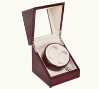 Vente en gros - Double Automatic Watch Winder Deluxe Mahogany Wood