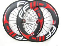 juego de ruedas f6r al por mayor-Ruedas Clincher de carbono 38/50/60/88 mm con pintura FFWD F4R F5R F6R F6R F9R pintura 700C de carbono completa para bicicleta de carretera con ruedas de carretera