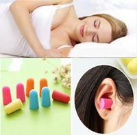 Wholesale soft foam ear plugs - New Hot Soft Foam Ear Plugs Travel Sleep Noise Prevention Earplugs Noise Reduction For Travel Sleepping B50Q