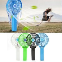 Wholesale Handheld Only - 5 Colors Mini Portable Handheld Fan Cooler Cooling USB Rechargeable Air Conditioner Portable USB Foldable Fan CCA6488 60pcs