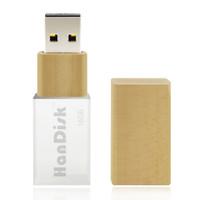 Wholesale Real 128gb Usb Flash - HanDisk 100% Real Capacity Transparent wooden Flash Drive 128MB 1 2 4 16 32 64 128gb Usb Pen Drive Portable Hard Drive Memory stick EU074