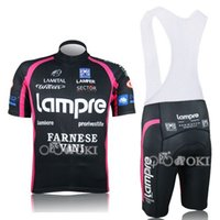 Wholesale Cycling Jersey Farnese - 2010 Lampre cycling jersey short sleeve and bib shorts set ropa ciclismo clothes  MTB pro cycling clothing Farnese vivi wear