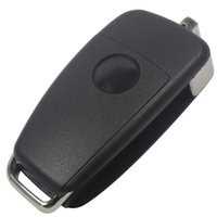 Wholesale Cover Te - No Blade Folding Flip Remote Car Key Shell 3 Button Cover For Audi A6 for VW Pasha Te Skoda Seat