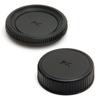 Wholesale Pentax Body - Wholesale-2 in 1 Camera Body+Lens Rear Cap Cover PK For Pentax K20D K2000D K7 K5 Kr Kx Km AF04