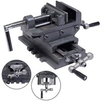 "Wholesale Drill Press Drilling - 4"" Cross Drill Press Vise X-Y Clamp Machine Slide Metal Milling 2 Way HD"