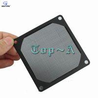 """Wholesale Fan Filter Mesh - Wholesale- 1 Pcs 140mm 5.5"""" Aluminum PC Fan Dustproof Cover 14cm Mesh Dust Filter Black"""