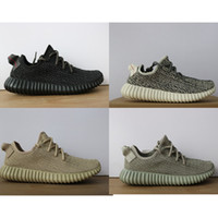 Wholesale Yellow Oxford Shoes - 2018 Best New V1 350 boost running shoes Sneakers Kanye west 350 Oxford Tan pirate black (Keychain + Socks + Receipt +boxes