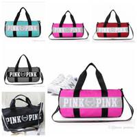 Wholesale Wholesale Tote Bag Luggage - Canvas secret Storage Bag organizer Large Pink Men Women Travel Bag Waterproof Victoria Casual Beach Exercise Lage Bags 5 Pcs