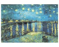 Wholesale Old Master Oil Painting Starry Night Wooden D Paper Puzzle Pieces for Adult