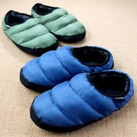 Wholesale Cotton Padded Slippers - Wholesale-Down Soft Couple Lovers Light Small Package With Multi-colored Eight Colors Cotton-padded Slippers Home Shoe Slippers Plus Size
