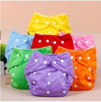 Wholesale Baby Mesh Bag - Infant Diapers Nappy Toddler Adjustable Reusable Nappies Washable Cloth Diaper Cloth Mesh Diapers Baby Cloth Diaper Nappy Bags 7 Colors J521