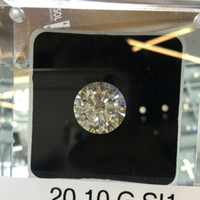 Wholesale Natural Round Certified Diamonds - 20.10 Round Cut Loose Diamond GIA Certified G SI1 +Free Ring VIDEO INSIDE