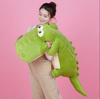 Wholesale Jumbo Plush Stuffed Animals - 135cm Jumbo Animal Crocodile Plush Toy 53'' Big Stuffed Soft Cartoon Alligator Pillow Children Play Doll