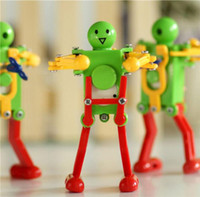 Robot Up Dancing Toys Dancing Top Chain Brinquedos Clockwork Robot Toys lovely dancing disco robot Kids Wind-up Toy