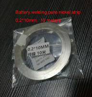 Wholesale Welding Component - Pure Nickel Strip for Scientific research,18650 battery welding Size:0.2*10mm, about 10 meters lot